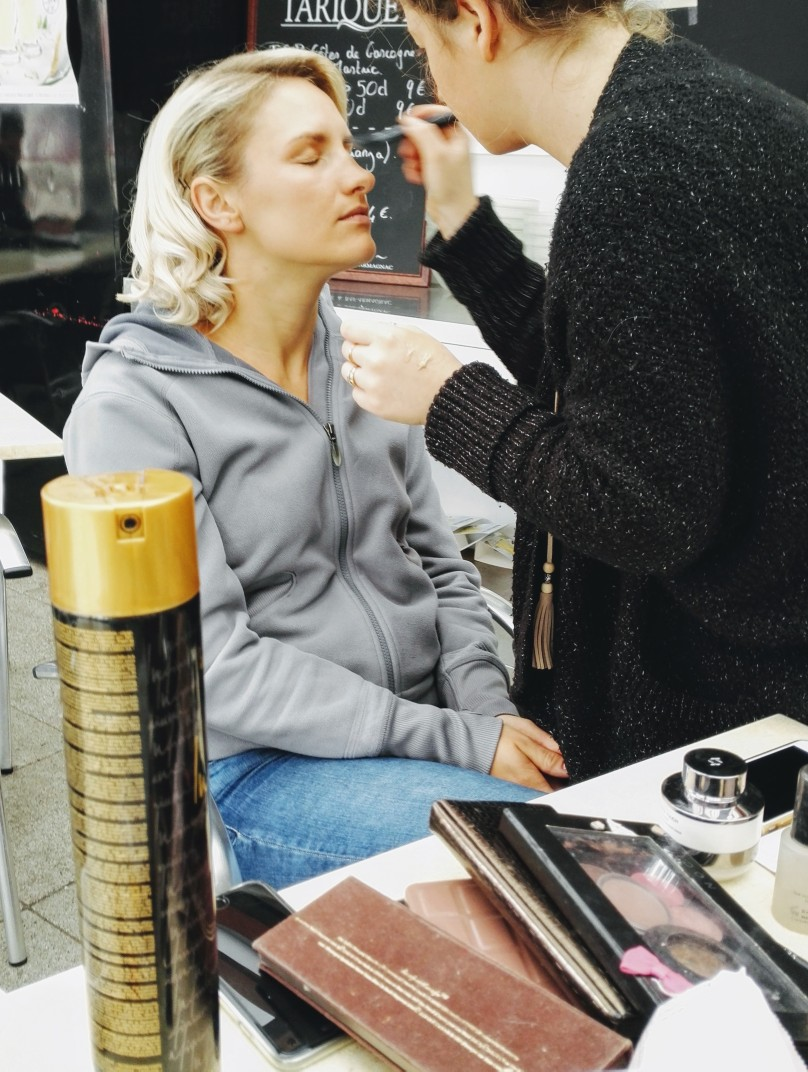 behind the scenes hair and make up