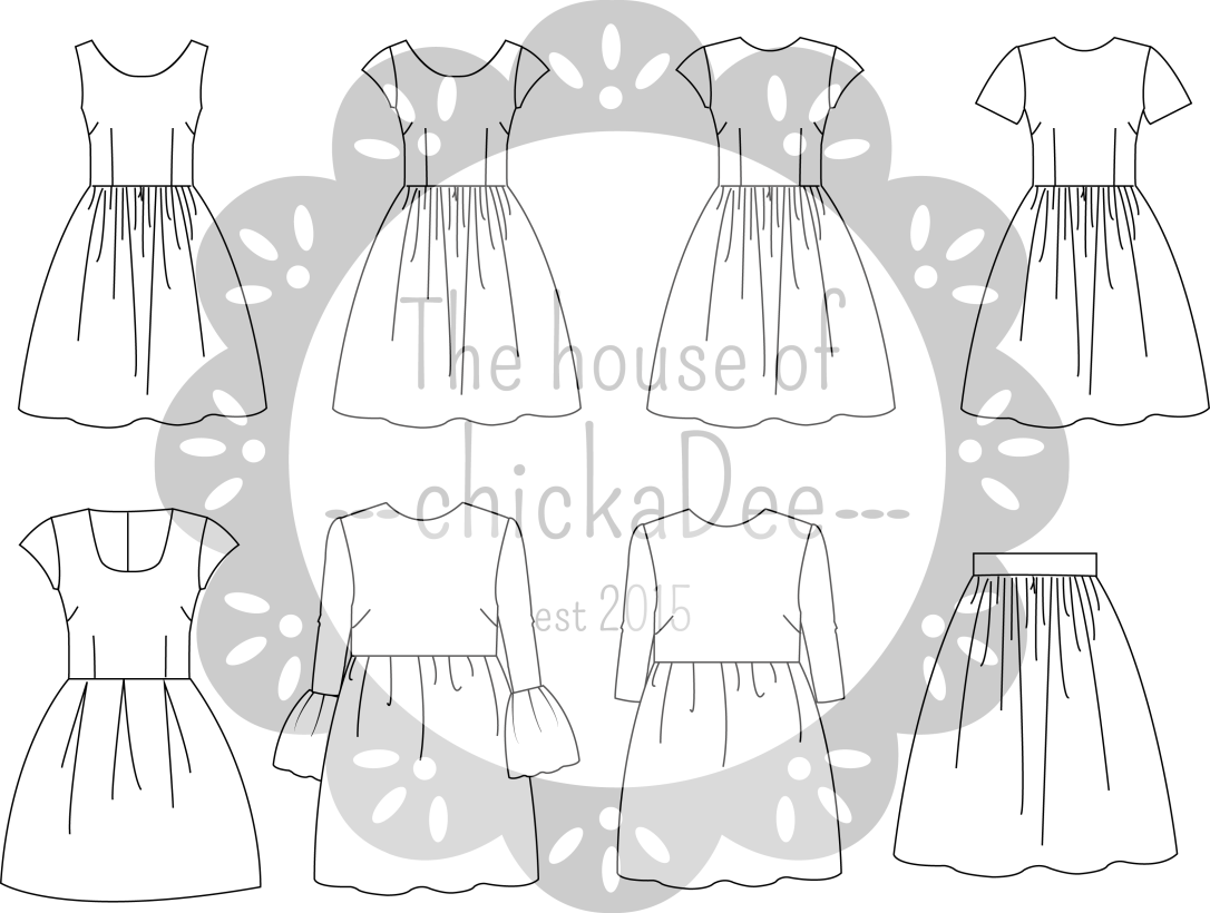 Dress designs from The House of chickaDee