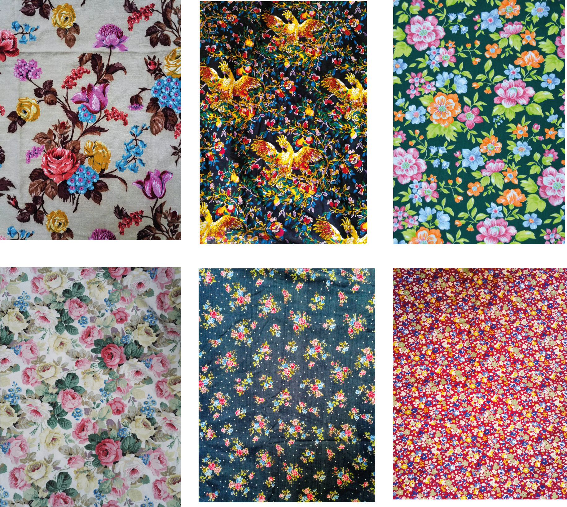 vintage fabric from our fabric library